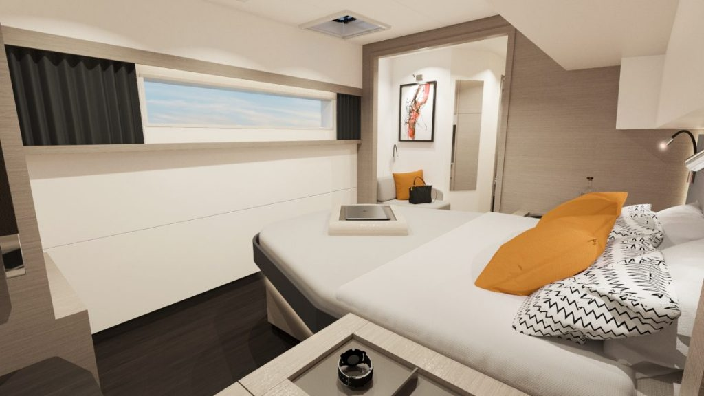 Fountaine Pajot New 51 Interiors Owners Suite 01