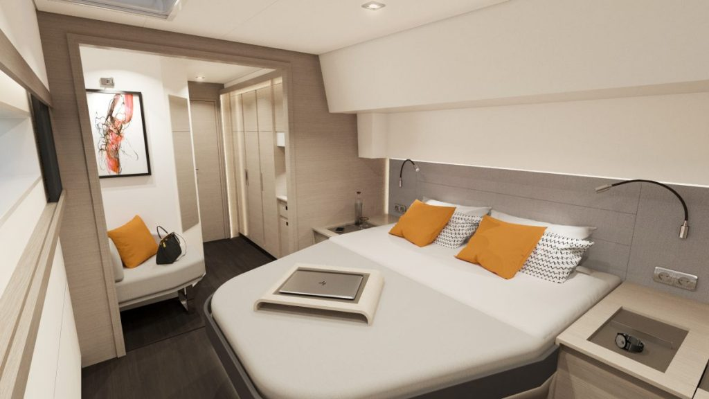 Fountaine Pajot New 51 Interiors Owners Suite 03