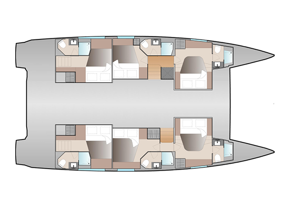 New 51 Fountaine Pajot Layout 6 Cab