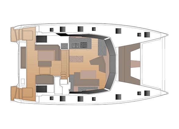 New 51 Fountaine Pajot Layout Deckplan