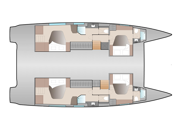 New 51 Fountaine Pajot Layout Double Maestro