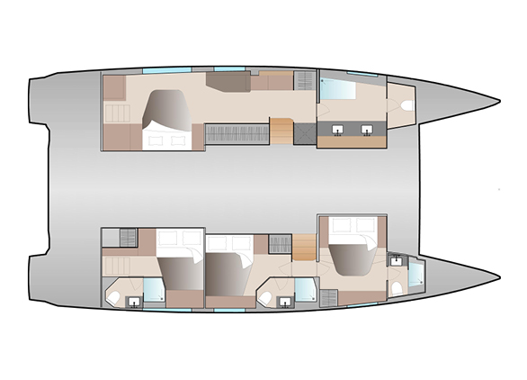 New 51 Fountaine Pajot Layout Full Maestro 4 Cab