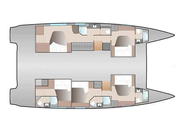New 51 Fountaine Pajot Layout Full Maestro 5 Cab